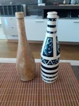Botellas de Adorno Pintadas..