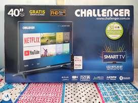 """Tv nuevo 40"""" Challenger más teclado smart económico"""