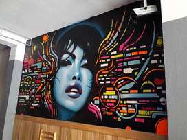 pintura mural y graffiti profesional