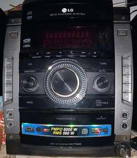 Sonido LG. Usb. Pmpo 6000w Rms 560 w, 3 cd changer sistem