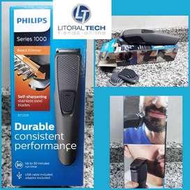 Cortabarba trimmer Philips con batería. Se carga por USB