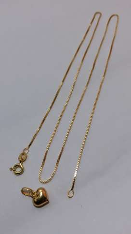 Cadena de oro 750 italiano puro tejido veneciano