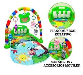 Gimnasio piano bebe musical tapete sonido giratorio GIPO703