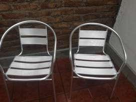 Vendo hermosos sillones de alumnio