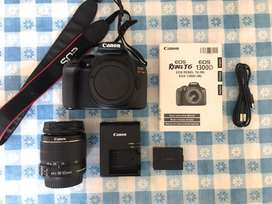 Camara fotografica semi profesional Canon EOS Rebel T6 lente EF-S18-55 mm