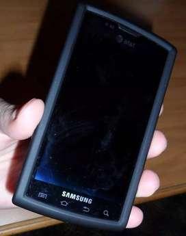 Antichoque Estuche protector Americano (hecho en Estados Unidos) en Goma para Samsung Captivate i897