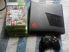 Xbox360 Slim Con Gta5 Con Varios Juegos Originales Y Control