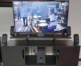 """TV LG 49LJ550T FULL HD 49"""" + TEATRO EN CASA 5.1 LOGITECH """"USADOS"""""""