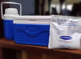 Nevera portatil 5q coleman+ termo 1.3 + gel refrigerante