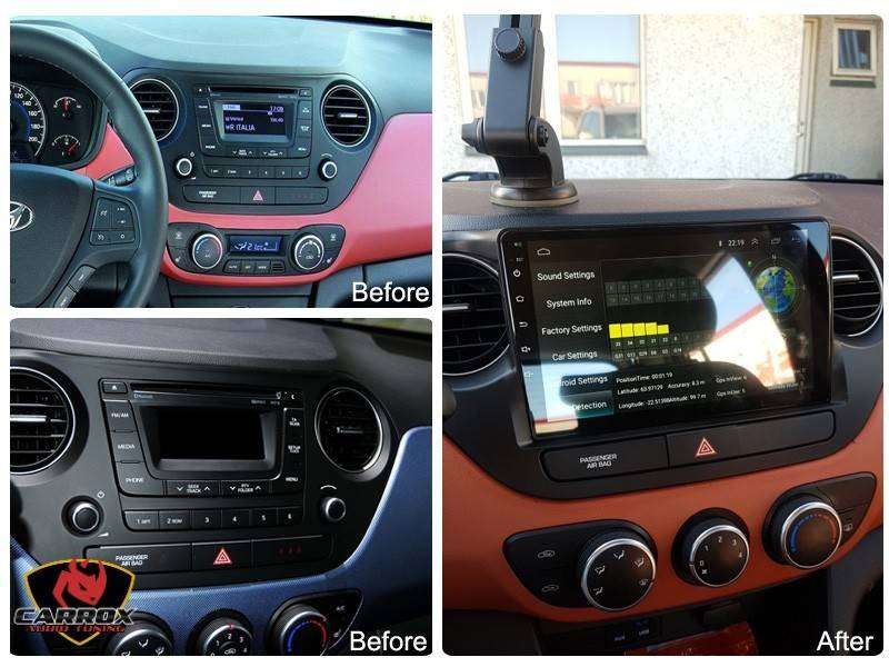 HYUNDAI GRAND I10 AÑO 2013 2017 AUTORADIO  ANDROID TACTIL WIFI BLUETOOTH PANTALLA TACTIL DE 9 PULGADAS 0