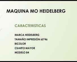 MAQUINA MO BICOLOR HEIDELBERG