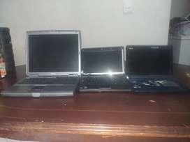 Se venden 3 portatiles para repuesto