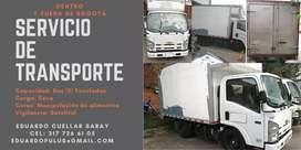 Transporte de alimentos , mercancía y servicio mudanza