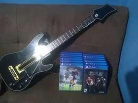 Juegos para Play 4 y Guitarra para Guitar Hero