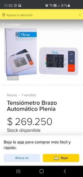 Tensiómeteo Electrónico marca Plenia