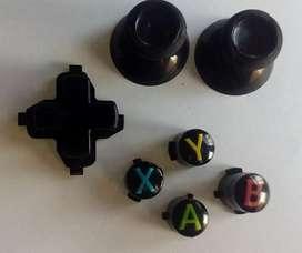 Botones AXYB Control Xbox One+2 Sombreros Joystick + Cruceta Xbox One