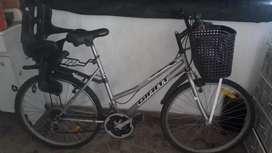 Bicicleta canasto y sillita
