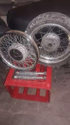 Rueda 13 tunig marca cott llanta 14 multirallos mas supencion tunig todo para moto 110