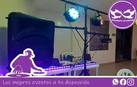 Alquiler de luces y sonido para fiestas de 15 años, animación de eventos meseros dj y animador hora loca para cumpleaños