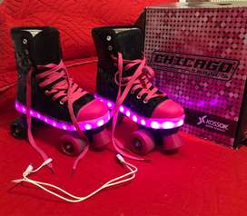 Patines con Luces Led + casco