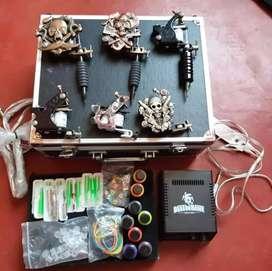Máquinas de tatuar kit en caja