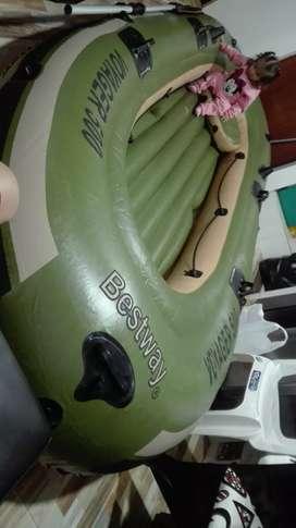 Bote inflable para pesca