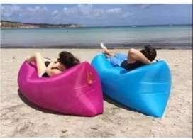 Air Puff Cama Colchón Sofá Inflable Playa Camping