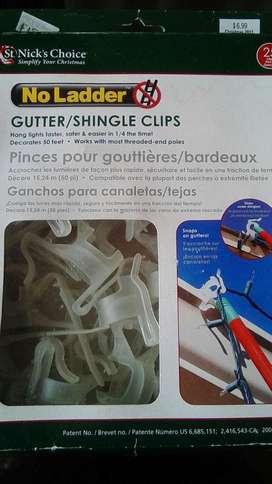 Ganchos para colgar Luces en canaletas o tejas