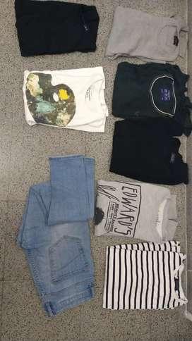 Lote ropa masculina usada ZARA; ABERCROMBIE; AMERICAN EAGLE.