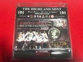 Medalla Miami Heat Campeón NBA Temporada 12-13 Con Lebron James Original Edición Limitada Made In USA