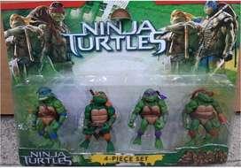 Muñecos Tortugas Ninjas x4