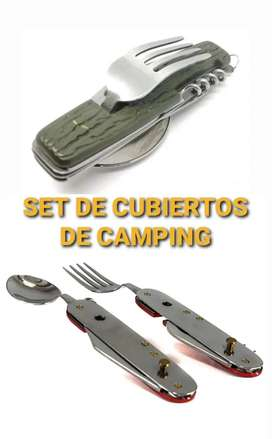 Set de cubiertos para camping dos modelos