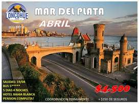 IMPERDIBLE MAR DEL PLATA EN EL MES DE ABRIL