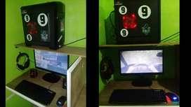 computadora computador cpu monitor gamer con juegos
