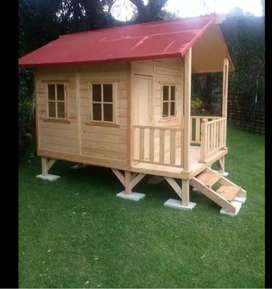 Cabañas en madera para niños
