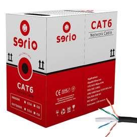 Cable UTP Categoria 6 Exterior CCA Para CCTV o Redes Caja x 100 Mts