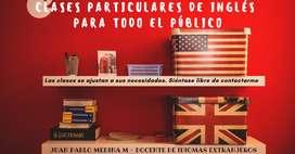 Clases particulares de Inglés para todo el público.