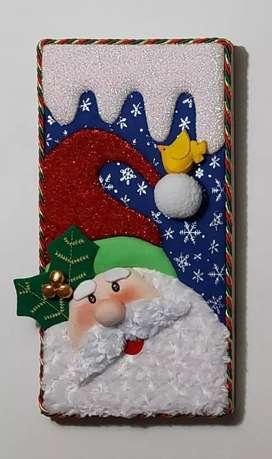 cuadros de navidad en madera
