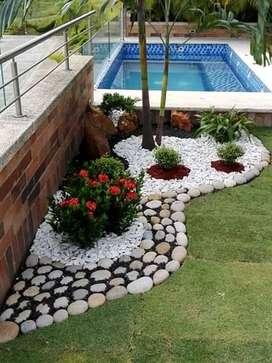 Prados,fuentes y diseño de jardines