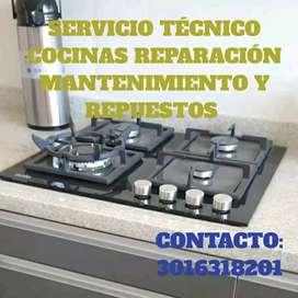 Servicio Técnico Cocinas Reparación Mantenimiento y Repuestos en CUCUTA