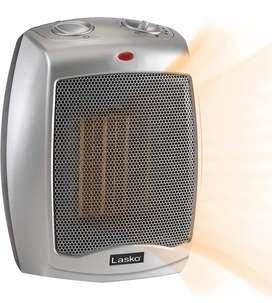 Calentador de ceramica portatil - Lazko plateado 754200
