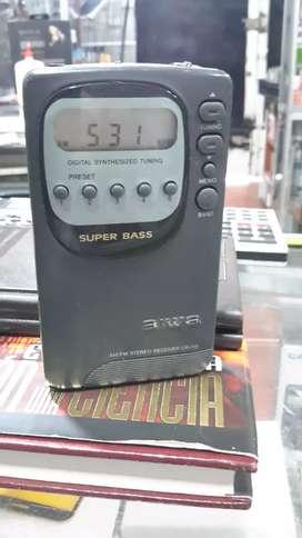 Radio am fm  aiwa original digital  5 memorias supersonido japones original