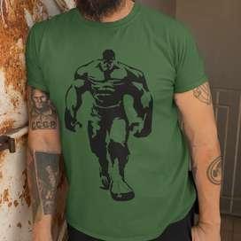 T-shirt Hulk 100% Algodon Importado.
