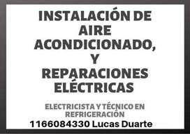 INSTALACIÓN DE AIRE ACONDICIONADO Y ARREGLOS ELECTRICOS