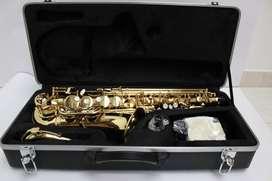 Saxofon Alto Marca Lujov By Jinbao Dorado con Estuche y accesorios