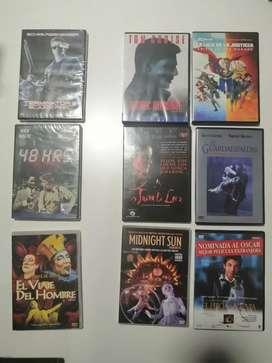 Películas originales DVD a 10 mil con caja y cinearte a 5 mil (sin caja).