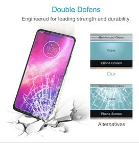Vidrio templado Glass Full Cover Motorola One Hyper cubre Bordes