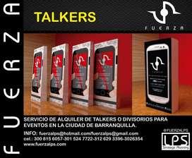 ALQUILER DE TALKERS O DIVISORIOS.