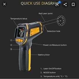 Termómetro infrarrojo con láser