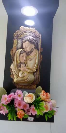 Sagrada familia con reflector